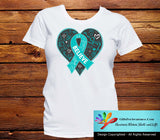 Peritoneal Cancer Believe Heart Ribbon Shirts - GiftsForAwareness