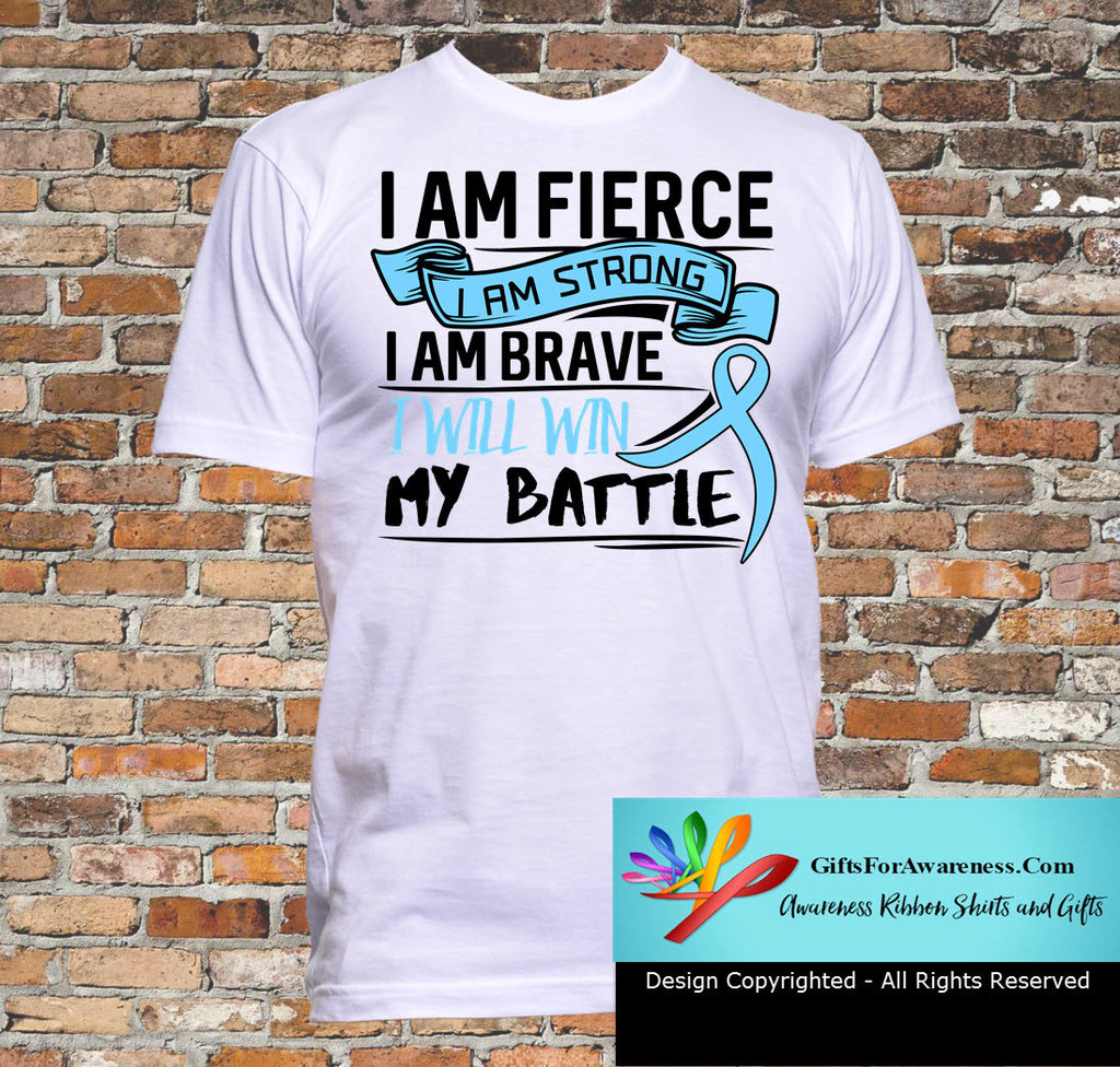 Prostate Cancer I Am Fierce Strong and Brave Shirts