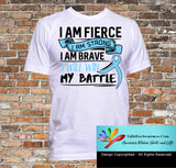 Prostate Cancer I Am Fierce Strong and Brave Shirts - GiftsForAwareness