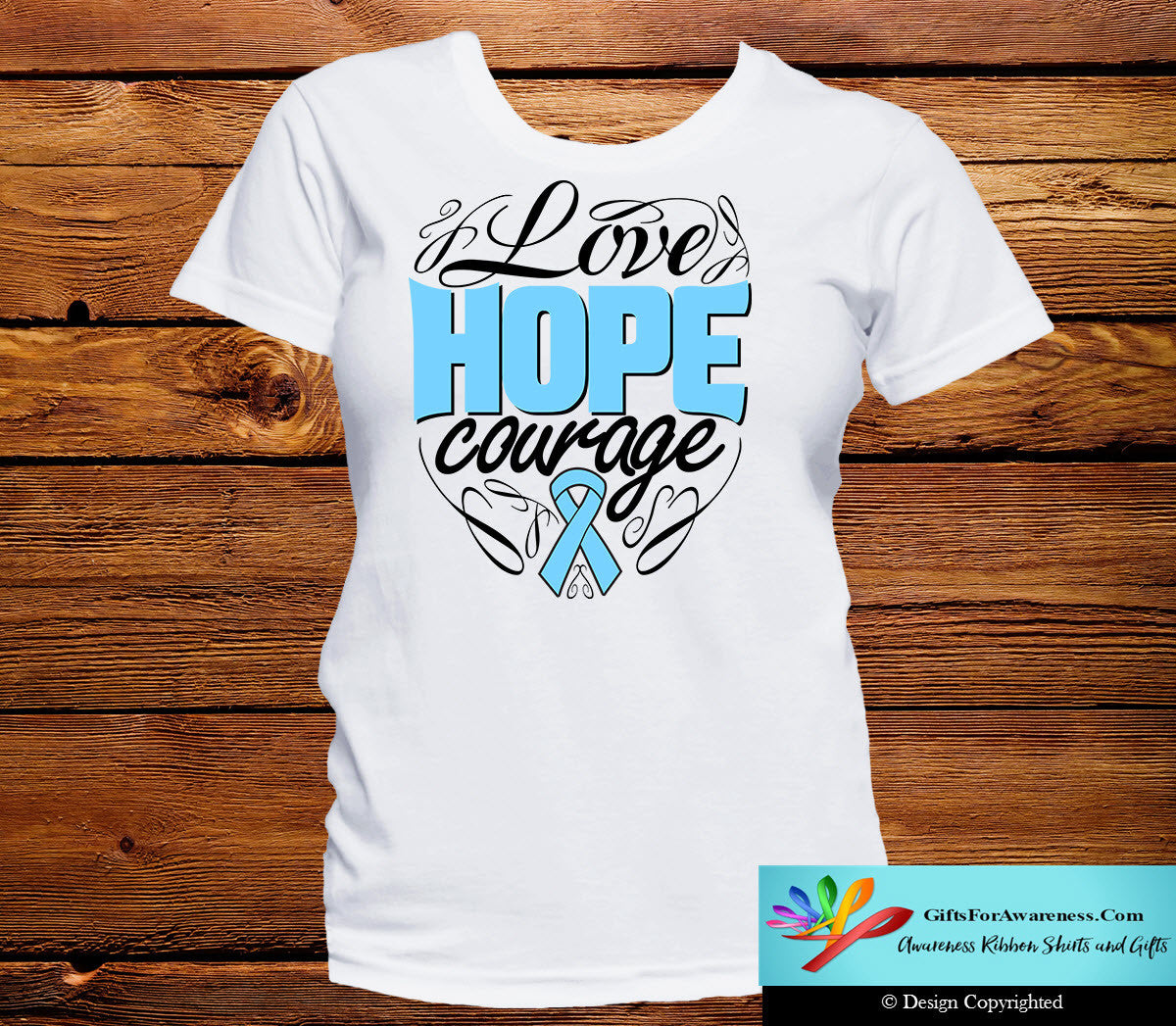 Prostate Cancer Love Hope Courage Shirts