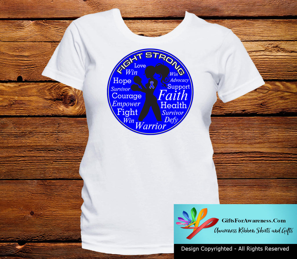 Rectal Cancer Fight Strong Motto T-Shirts