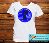 Rectal Cancer Fight Strong Motto T-Shirts - GiftsForAwareness