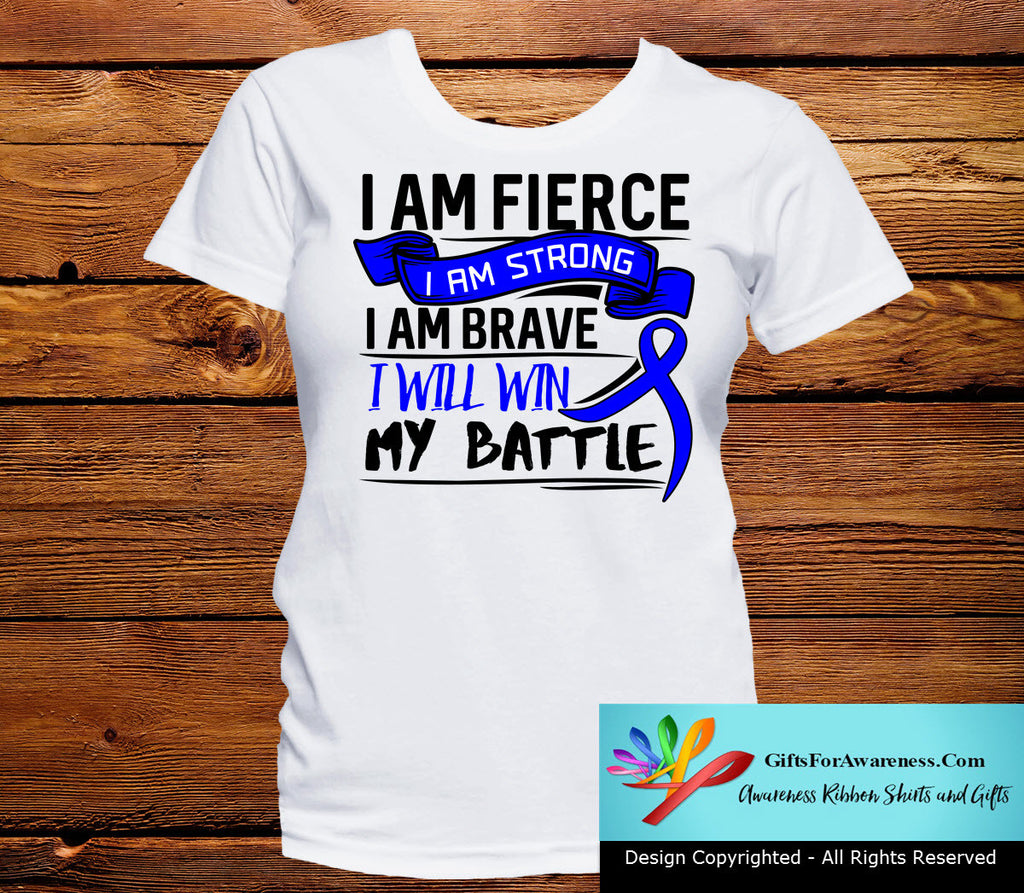 Rectal Cancer I Am Fierce Strong and Brave Shirts