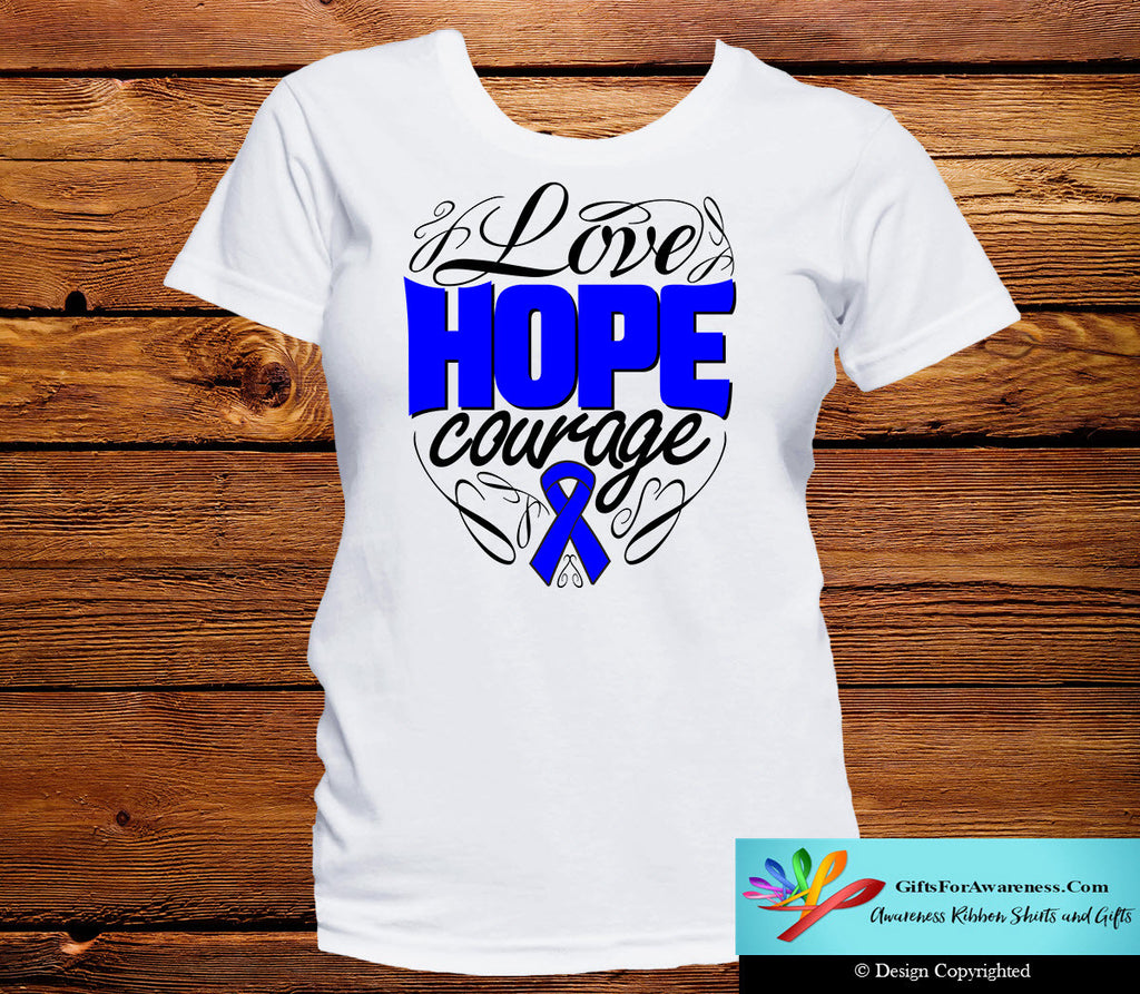 Rectal Cancer Love Hope Courage Shirts