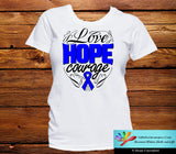 Rectal Cancer Love Hope Courage Shirts - GiftsForAwareness