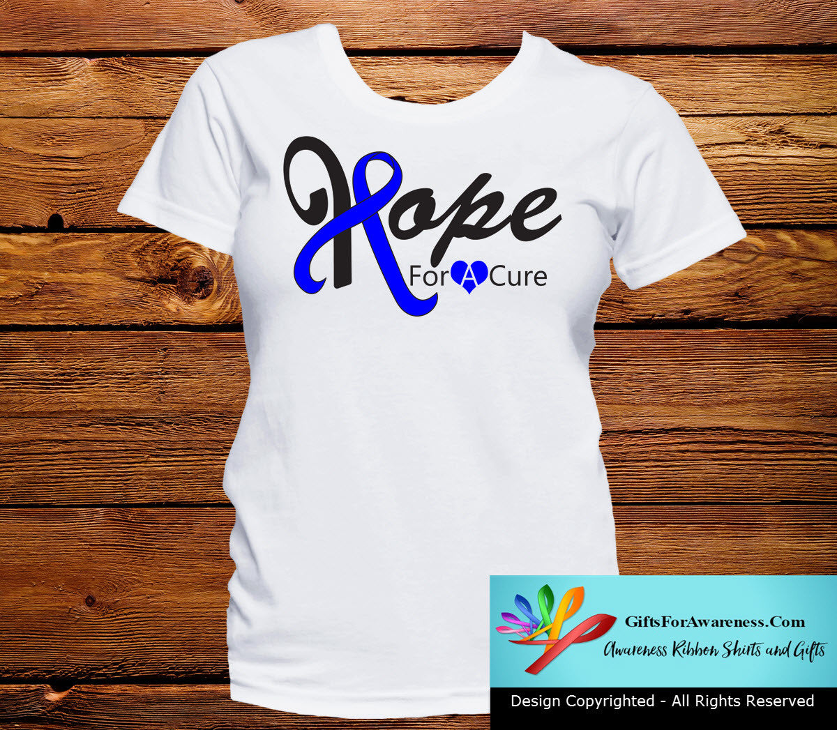 Rectal Cancer Hope For A Cure Shirts - GiftsForAwareness