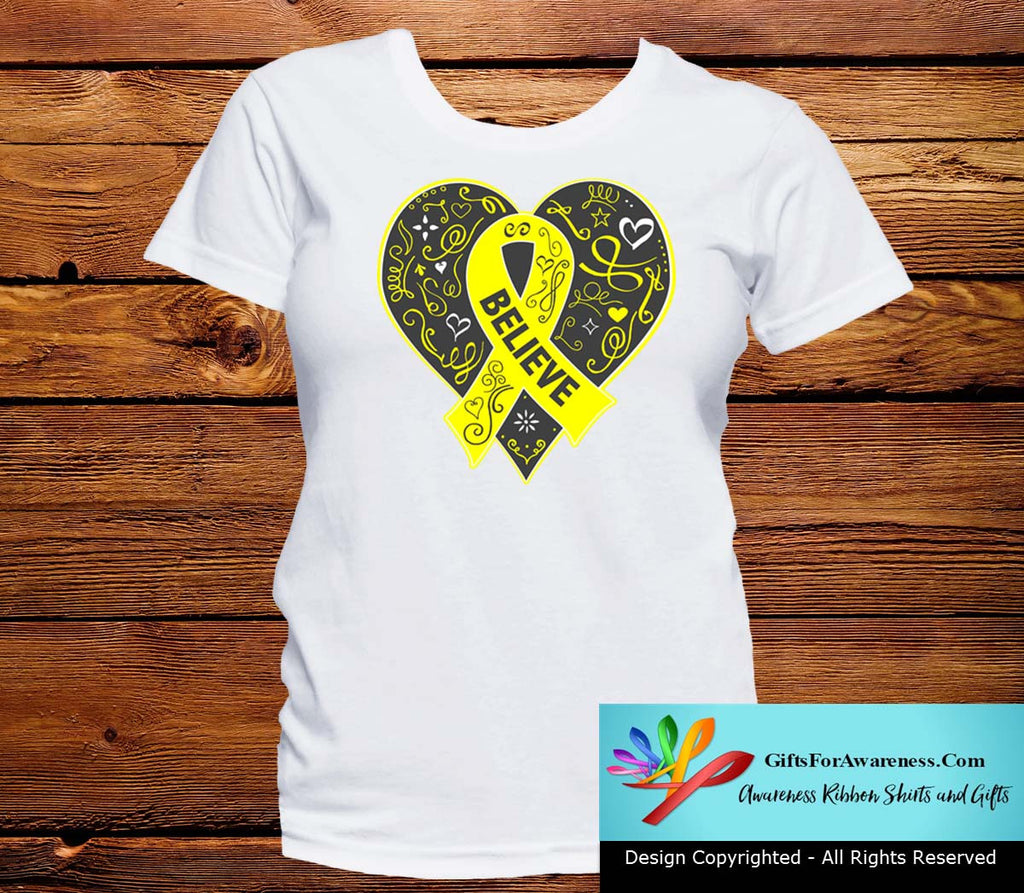 Sarcoma Believe Heart Ribbon Shirts