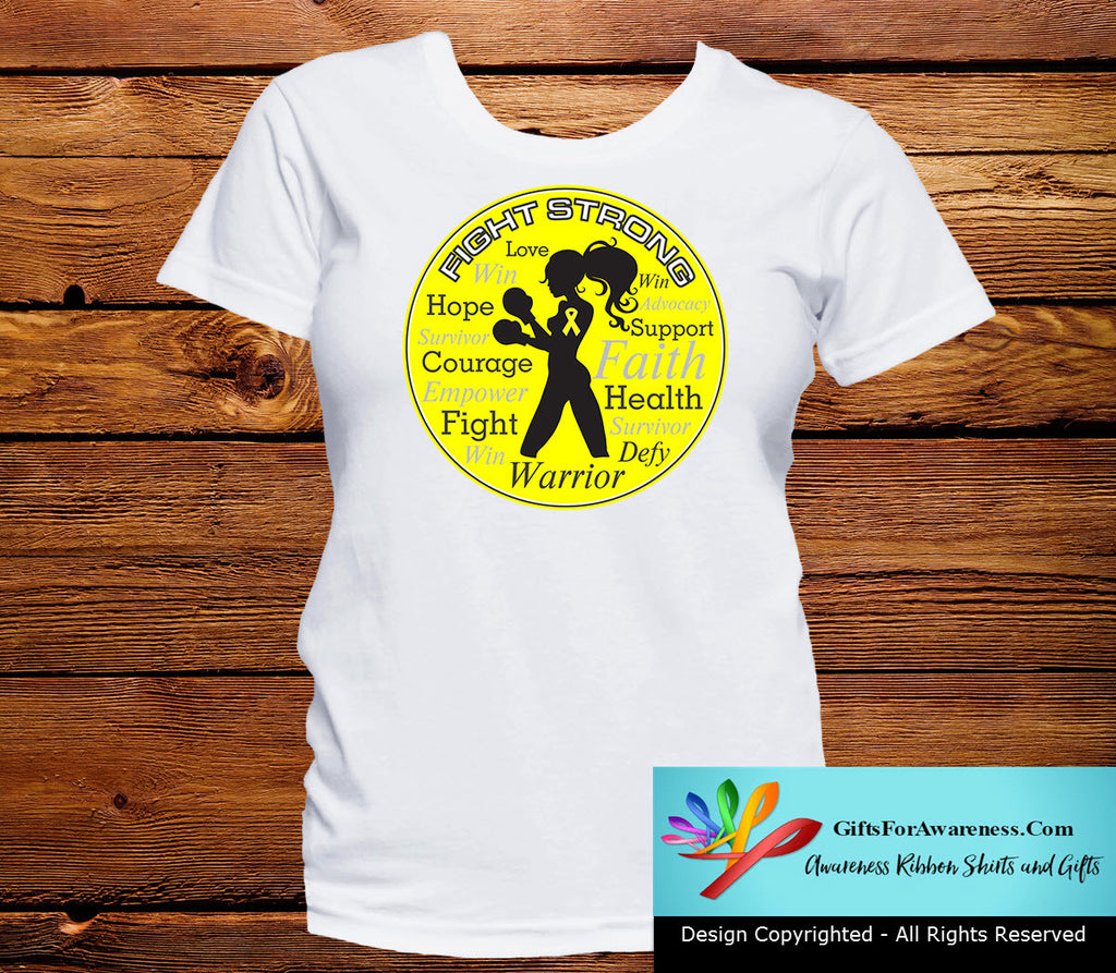 Sarcoma Fight Strong Motto T-Shirts
