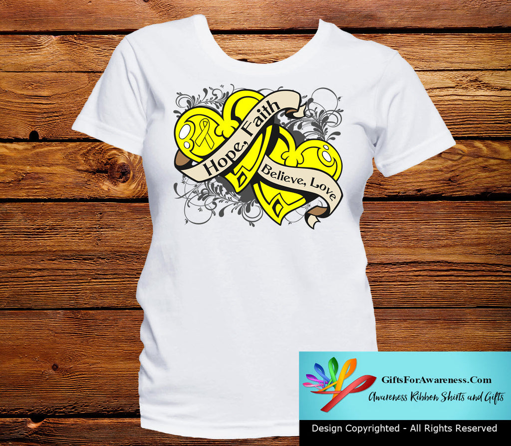 Sarcoma Hope Believe Faith Love Shirts