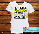 Sarcoma I Am Fierce Strong and Brave Shirts - GiftsForAwareness