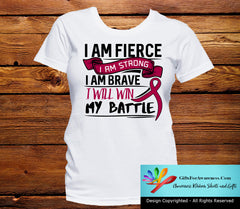 Sickle Cell Anemia I Am Fierce Strong and Brave Shirts