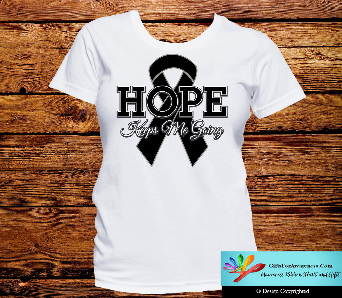 Skin Cancer Hope Keeps Me Going Shirts - GiftsForAwareness