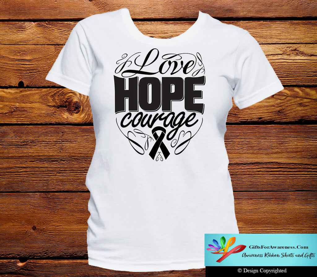Skin Cancer Love Hope Courage Shirts