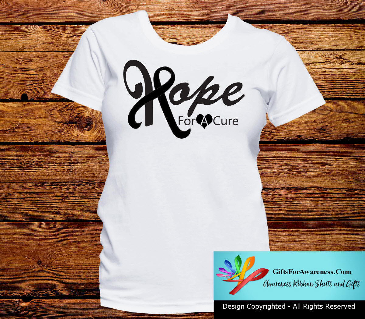 Skin Cancer Hope For A Cure Shirts