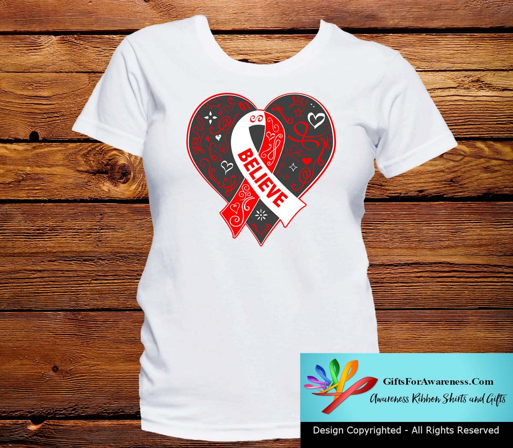 Squamous Cell Carcinoma Believe Heart Ribbon Shirts