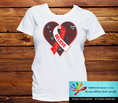 Squamous Cell Carcinoma Believe Heart Ribbon Shirts - GiftsForAwareness