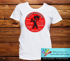 Squamous Cell Carcinoma Fight Strong Motto T-Shirts - GiftsForAwareness