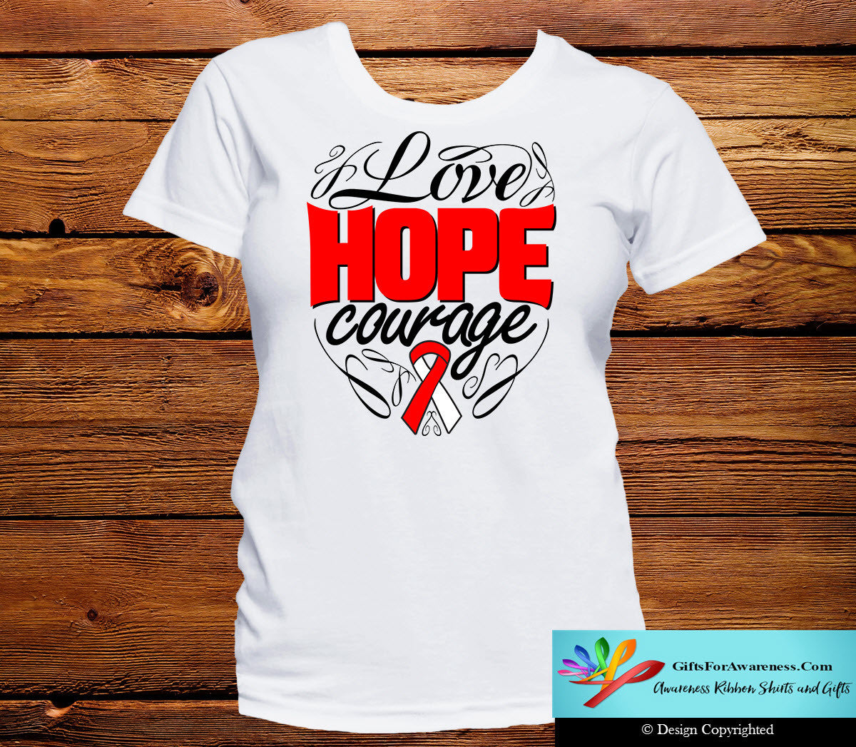 Squamous Cell Carcinoma Love Hope Courage Shirts - GiftsForAwareness