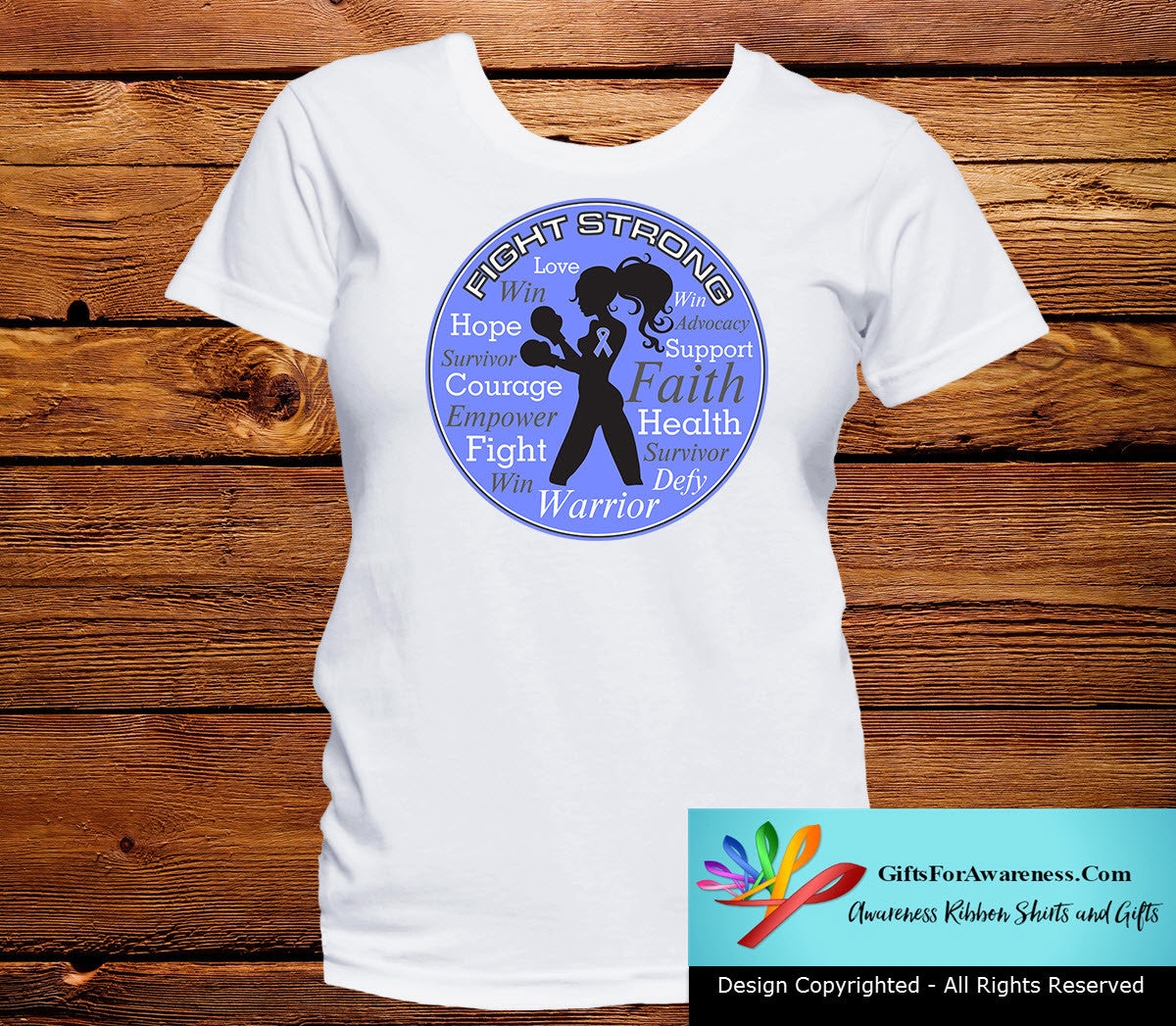 Stomach Cancer Fight Strong Motto T-Shirts - GiftsForAwareness