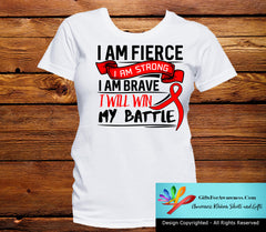 Stroke I Am Fierce Strong and Brave Shirts - GiftsForAwareness