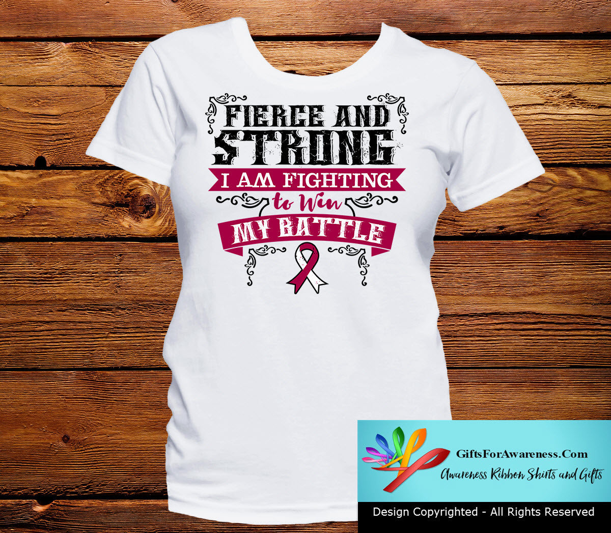 Throat Cancer Fierce and Strong I'm Fighting to Win My Battle