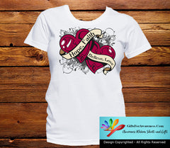 Throat Cancer Hope Believe Faith Love Shirts - GiftsForAwareness