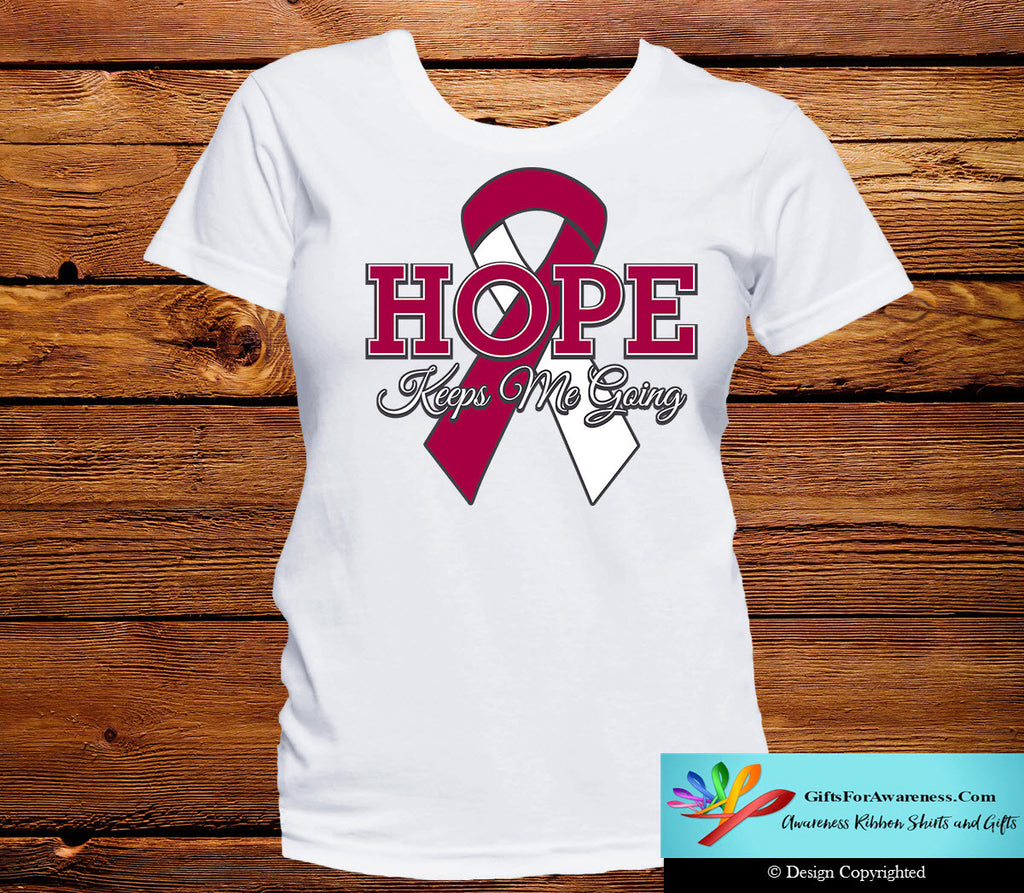 Throat Cancer Hope Keeps Me Going Shirts