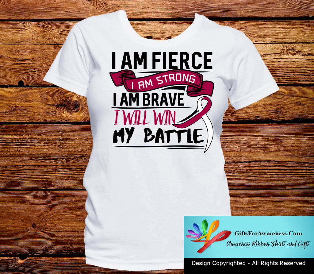 Throat Cancer I Am Fierce Strong and Brave Shirts