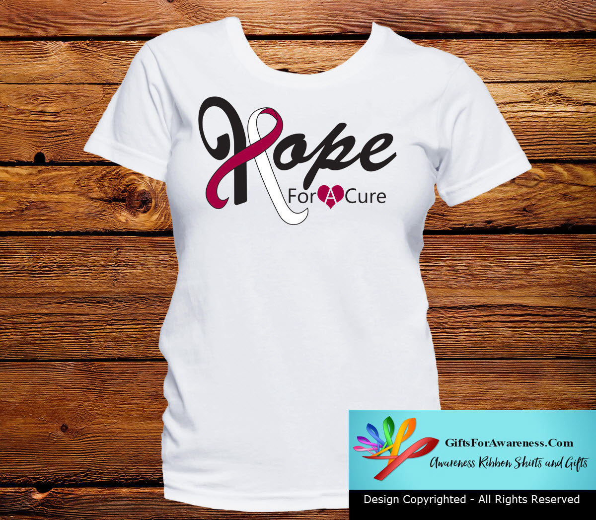 Throat Cancer Hope For A Cure Shirts - GiftsForAwareness