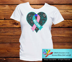 Thyroid Cancer Believe Heart Ribbon Shirts - GiftsForAwareness