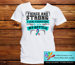 Thyroid Cancer Fierce and Strong I'm Fighting to Win My Battle - GiftsForAwareness