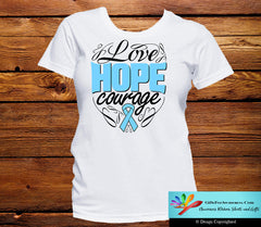 Thyroid Disease Love Hope Courage Shirts