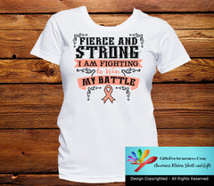 Uterine Cancer Fierce and Strong I'm Fighting to Win My Battle - GiftsForAwareness