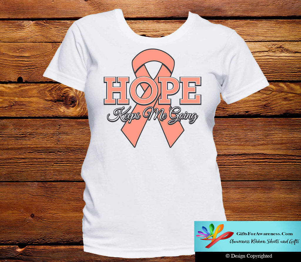 Uterine Cancer Hope Keeps Me Going Shirts