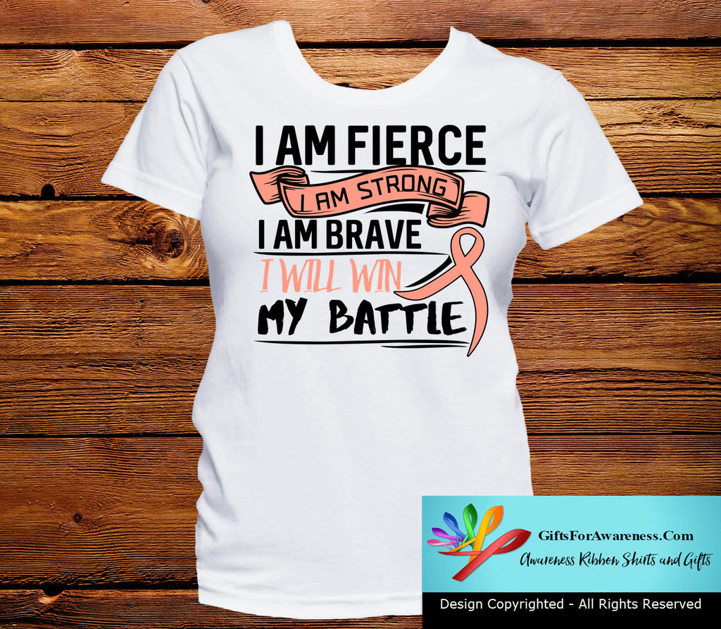 Uterine Cancer I Am Fierce Strong and Brave Shirts