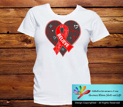 Vasculitis Believe Heart Ribbon Shirts