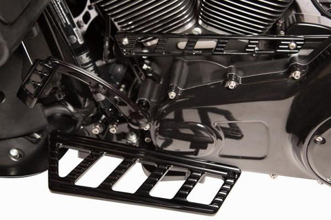Harley Ambush Series Rider Foot Boards – Black by Misfit Industries
