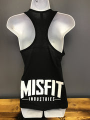 Ladies Misfit Logo Racer Back Tank Top