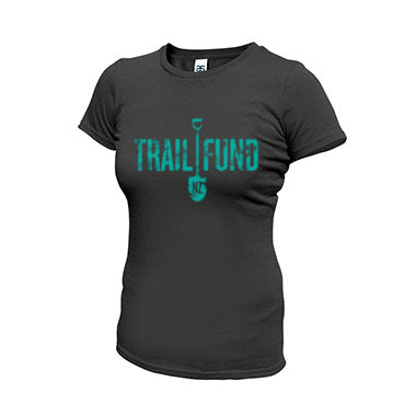 Trail Fund Classic T-Shirt - Charcoal (w/Blue Logo) - Women's