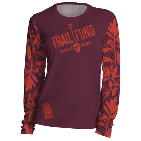 "Long Sleeve Women's Riding Top ""Leaves"""