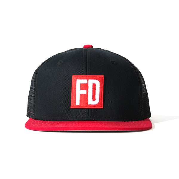 FD Black/Red Bill Mesh Hat