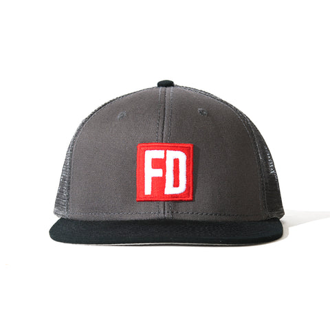 FD Grey/Blk Bill Mesh Hat