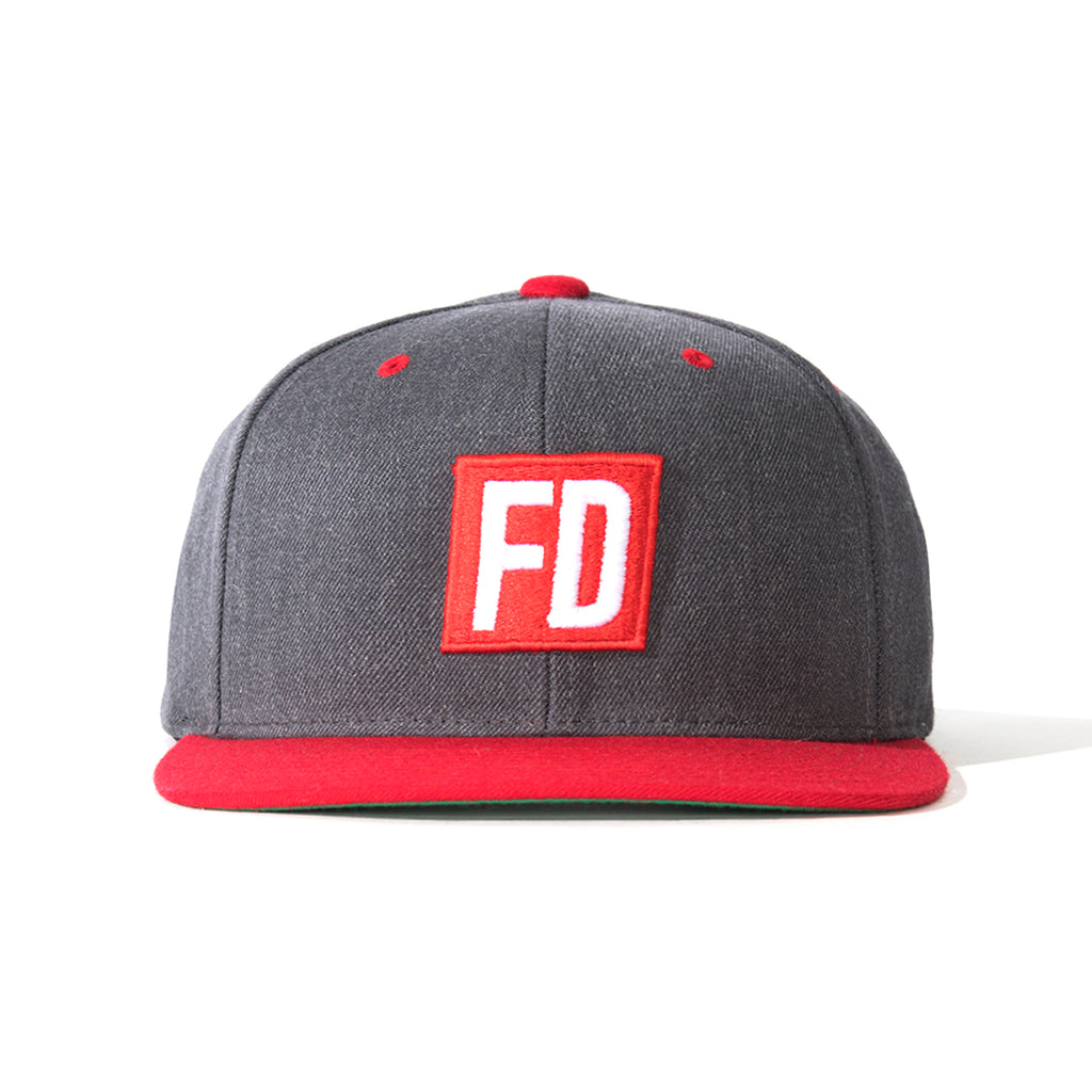 FD Grey w/ Red Bill Hat