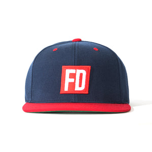 FD Navy w/ Red Bill Hat