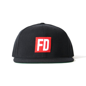 FD Black with Red Logo Hat