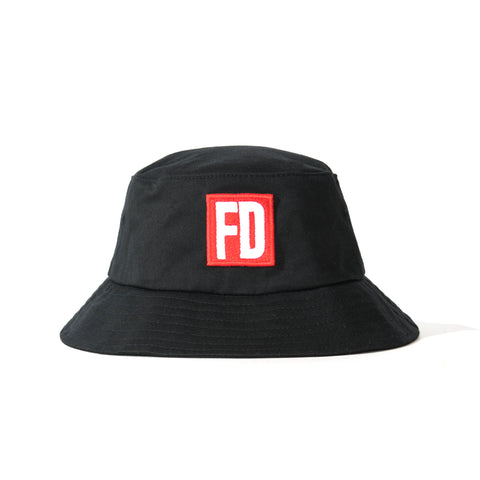 FD Black with Red Logo Bucket Hat