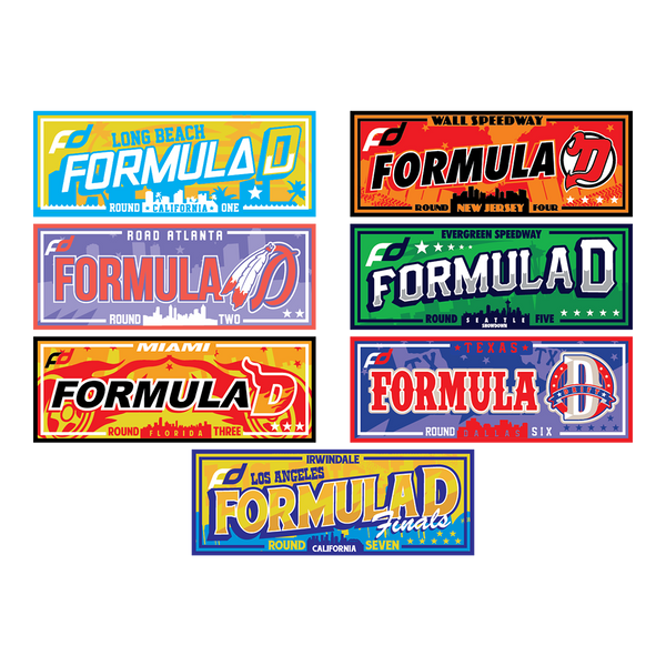 Formula Drift Sticker - City Tour (All City Bundle)