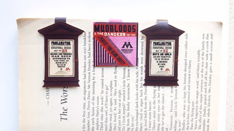 Harry Potter Ministry of Magic and Proclamation bookmarks: set of 3