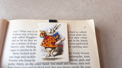 Court Jester Rabbit - Alice in Wonderland magnetic bookmark