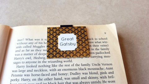 Great Gatsby magnetic bookmark